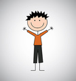 boy draw vector image