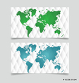 Card with world map vector image vector image