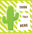 cartoon grunge style mexican cactus with text vector image