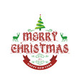 christmas greetings card with light simple vector image vector image