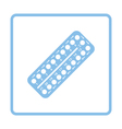 Contraceptive pill pack icon vector image vector image