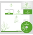 Corporate identity mockup template with vector image vector image