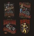 custom motorcycle vintage prints vector image vector image