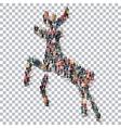 deer isometrick people 3d vector image vector image