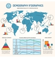 demographic infographics template vector image