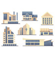 detailed images of various types of buildings vector image
