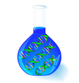 DNA in flask vector image vector image