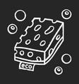 eco sponges chalk icon vector image vector image