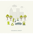 Ecologic concept in flat style vector image