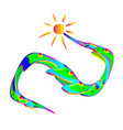 everyone enjoys the sun and landscape vector image