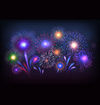 fireworks background party celebration light with vector image vector image