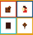 flat icon chocolate set of shaped box delicious vector image vector image