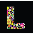 floral letter vector image vector image