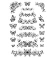 floral patterns with butterflies vector image vector image