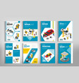 flyers for car repair or car service concept vector image vector image