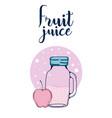 fruit juice card vector image vector image