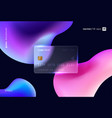 glass morphism style translucent bank card vector image
