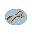 Gray wolf jumping and attacking vector image vector image