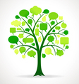 Green Single Speech Bubble Tree vector image vector image