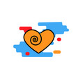 heart icon with curl trendy modern concept vector image vector image