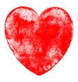 heart symbol watercolor texture vector image vector image