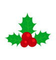 holly of traditional christmas the decoration icon vector image vector image