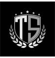 initials inspiration letter t s logo shield badge