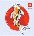 koi fish art vector image vector image