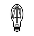 lamp icon in outline style vector image