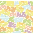 Love letters envelopes seamless pattern background vector image
