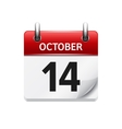 October 14 flat daily calendar icon Date