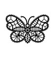 one line of crocheted lacy vector image vector image