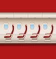 passenger plane interior aircraft cabin vector image