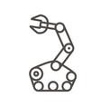 robotic arm icon vector image vector image