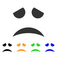 sad face smile icon vector image