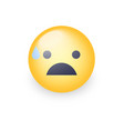 scared face with open mouth and cold sweat vector image vector image