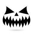 scary halloween pumpkin face design ghost vector image vector image