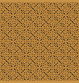 seamless celtic knot infinity pattern vector image