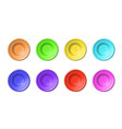 set blank plates multicolored pottery of clay or vector image vector image