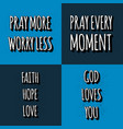 set christian lettering quotes motivation vector image vector image