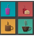 Set of icons for food and drink vector image