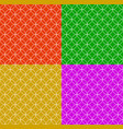 set of seamless patterns in different colors with vector image