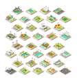 sport facility buildings set 3d isometric city vector image vector image