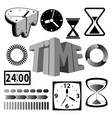 Time icons and signs vector | Price: 1 Credit (USD $1)
