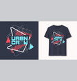 urban crew abstract geometric graphic t-shirt vector image vector image