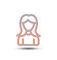 user line icon female profile sign vector image