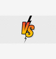 versus sign gradient style with crack isolated on vector image vector image