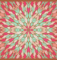 vintage greeting card with abstract pattern vector image vector image