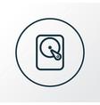 winchester icon line symbol premium quality vector image vector image