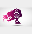 women day greeting card on purple background vector image vector image